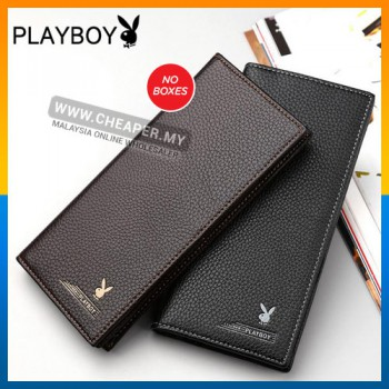 Men Long Wallet Leather with 11 card slots free card knife
