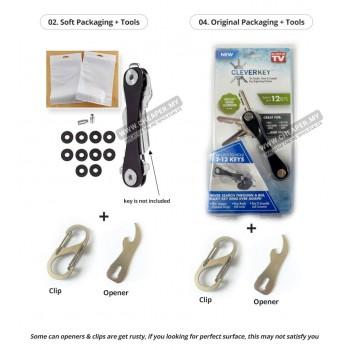 Smart Key Cleverkey Holder Organizer Swiss Style Keychain Clip Pocket