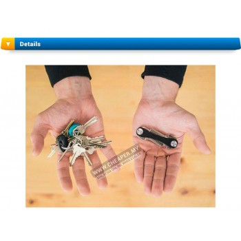 Smart Key Cleverkey Holder Organizer Swiss Style Keychain Clip Pocket