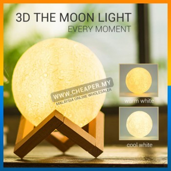 USB 3D Fixtures Moon Lamp Levitating Night Change Touch Lighting Bedrooms Lamp