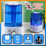Anion Ultrasound Humidifier Fresh Clean Air Purifier Aroma Diffuser 2L