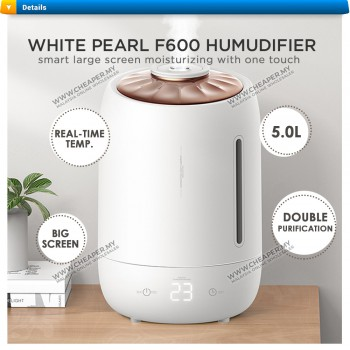 Air Humidifier 5L Smart Touch Screen F600 Aroma Diffuser Air Humidifier Big Capacity Double Purification