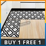 Multi Shape Black White Shower Kitchen Room House Flannel Floor Door Mat Carpet Foam Picnic Blanket