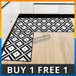 Multi Shape Black White Shower Kitchen Room House Flannel Floor Door Mat Carpet Foam Picnic Blanket