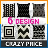 [CLEARANCE] Cushion Cover Geometric Triangles Stripe Pillow Decorative Pillow Case