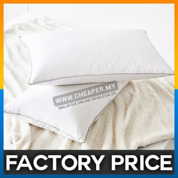 (74x48cm) 5 Star Hotel Solid White Luxury Polyester Cotton Bed Pillow