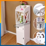 Bathroom Bedroom Narrow Waterproof Cabinet Toilet Side Rack Storage Multifunction Floor Rack Locker