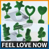 4pcs Decoration Artificial Flowers Fake Grass Ball Love Shaped Simulation Plant