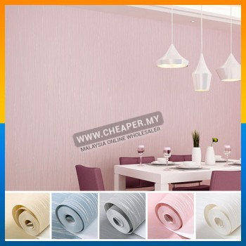 Modern Geometric Non-Woven Fashion Vertical Stripe Bedroom Solid Color Wallpaper
