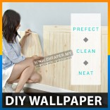 DIY 3D Wood Wall Stickers PE Foram Home Decor Wallpaper Waterproof
