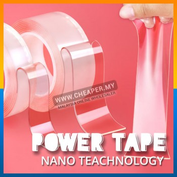 Nano Magic Tape Traceless Washable Adhesive Double Sided Reusable Clear Sticky Power Tape 2cm 3cm 5cm