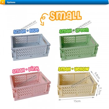 Trend Foldable Storage Box Stackable Multifunctional Organisers Barangan Containers Home Office Bilik Room