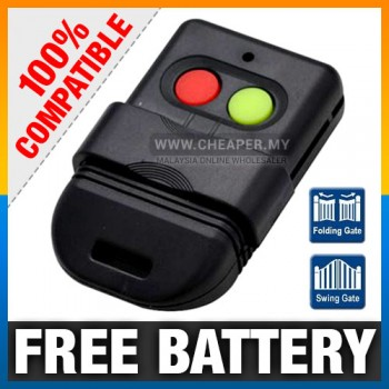 Auto Gate Door Remote Control Replacement New IC Chip free battery