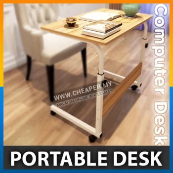 Mobile Caster Wheel Adjustable Portable Lazy Computer Desk (60x40cm)