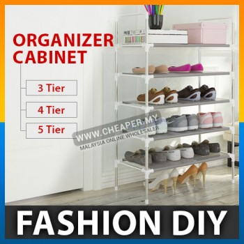 Simple Fashion DIY Assembly Metal Iron Shoes Shelf Rack Organizer Cabinet