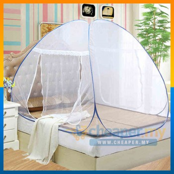 Mosquito Net Foldable Self Standing Fully Covered / Kelambu Nyamuk