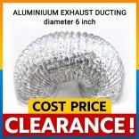 Aluminium cooker hood Exhaust Hose diameter 6 inch length 9 meter