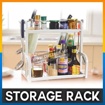 Creative White Home Plastic Kitchen Storage Rack