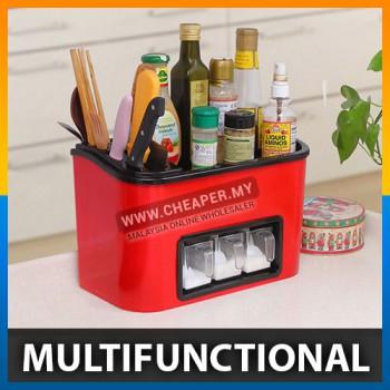 Multifunctional Kitchen Rack Seasoning Storage Box