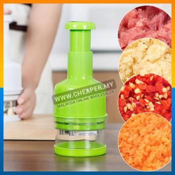 Multi-Function Green Manual Fast Press Onion Slicer Chopper Kitchen Vegetable Meat Bean Ingredients