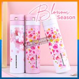 Sakura Blossom 450ml Spring Season Stainless Steel Keep Warm Vacuum Cup Travel Mug Thermal Tumbler Flask