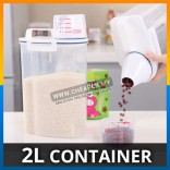 2L Container Dispenser Storage Box Plastic Cereal Food Grain Rice Kitchen Container