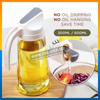 Flip Cover Glass Oil Minyak Bottle Cooking Dispenser Storage Bottle Botol Seasoning Sauce Vinegar Liquid