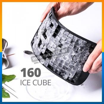160 Ice Cube Frozen Maker Mold Tray Silicone Silikon Dulang Ais Batu Home Kitchen Tool Square Shape Bentuk Segi Empat
