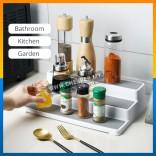 3-Tier Shelf Seasoning Sauce Cosmetics Accessories Bottle Storage Organize Household Dapur Multifunctional