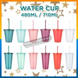 WONDERFUL Blink Portable Drinking Cawan Personalized Water Bottle With Straw Cup Reusable Drinkware Shining