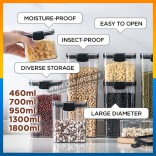Food Storage Container Box Refrigerator Noodle Bekas Multigrain Storage Tank Transparent Air Tight Sealed