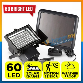 Solar Power Super Bright 60 LED Light with Security Motion Sensor