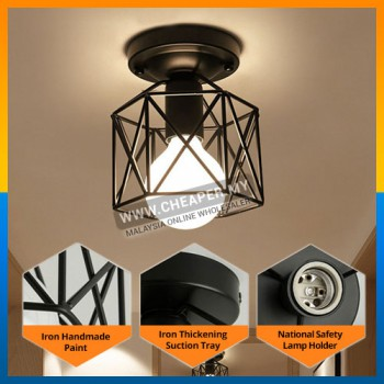 Black Gold Metal Ceiling Light Nordic Creativity Vintage Lighting Metal Industrial Style Decor