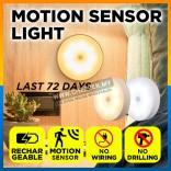 Rechargeable Sensor Light Wireless Body Induction Lamp Motion Sensor USB charging LED Night Warm White