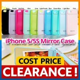 [CLEARANCE] iPhone 5 5S SE ZENUS Mirror Back Case with Card Holder Cover Casing