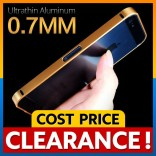 [CLEARANCE] iPhone 5 5S SE Ultrathin 0.7mm Aluminum Metal Blade Bumper Case Casing