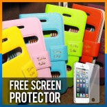 [CLEARANCE] iPhone 5S / 5 Table Talk Magnet Flip Leather Pouch Cover Case Casing