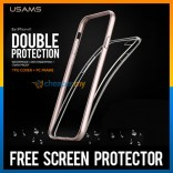 iPhone 6 Original USAMS Double Protection Bumper Crystal Case Casing