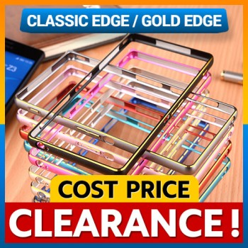 [CLEARANCE] Sony Xperia Z Z1 Z2 Z3 Gold Edge Aluminum Bumper Case Cover Casing