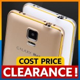 [CLEARANCE] Samsung Note 4 Covered Gold Edge Metal Bumper Back Case Cover Casing