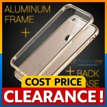 [CLEARANCE] iPhone 6 6S Plus Metal Bumper with Transparent Back Cover Case Casing