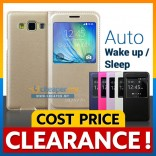 [CLEARANCE] Samsung Galaxy A3 A5 A7 S View PU Leather Sview Flip Cover Case Casing