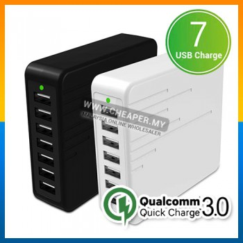 FAST CHARGE 48W 7 PORT QC 3.0 2.0 USB Charger Qualcomm Quick Charger