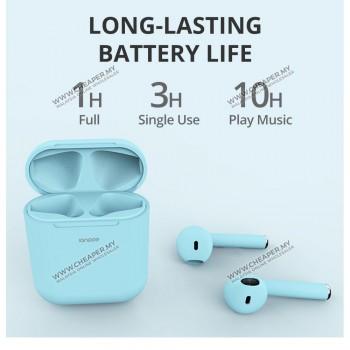 Macaroon inpod i12 12 TWS Earphone Bluetooth 5.0 Wireless Stereo Alat Dengar Earbuds Headset with Mic