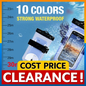 [CLEARANCE] IPX8 Waterproof Bag Case with Armband Neck Strap Clip and Fold Type