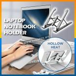Adjustable Foldable Laptop Stand Non Slip Holder Besi Pemegang Adjustment Foldable Desktop Dilipat Holder