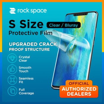 (SIZE S - Below 7 inch) Authorized Dealers Rock space Screen Protector Proof Film FREE TOOLS