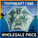 Fishing Net Cage Foldable Nylon Fishing Mesh Net for Fish Shrimp