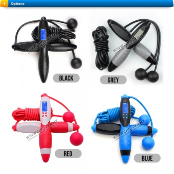 Electronic Digital Jump Rope Counting Calorie Fitness Sport Light-Weight Excercise Skipping Ropes Workout