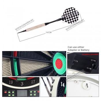 Electronic Dart Board DartBoard Set 18' Darts 16 Players
